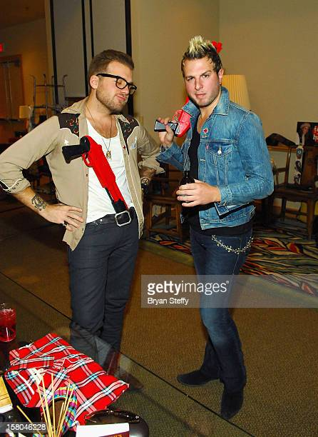 Tom Gossin and Mike Gossin of Gloriana attend the Backstage Creations Celebrity Retreat at the 2012 American Country Awards at the Mandalay Bay...