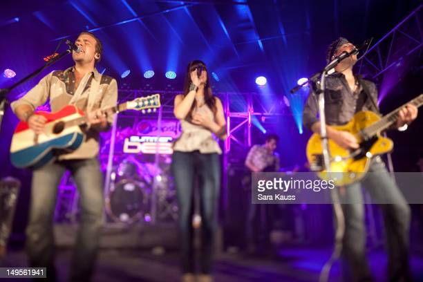 Tom Gossin Rachel Reinert and Mike Gossin perform onstage at Pepsi/Billboard's Summer Beats concert at Cannery Ballroom on July 30 2012 in Nashville...