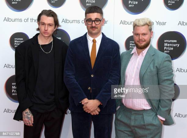 Tom Green Gus UngerHamilton and Joe Newman of AltJ attend The Hyundai Mercury Prize at Eventim Apollo on September 14 2017 in London England
