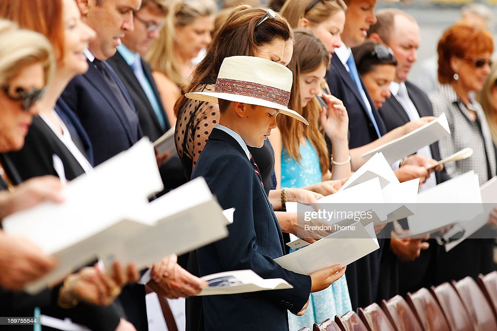 Tom Greig attends the Tony Greig memorial service at Sydney Cricket Ground on January 20, 2013 in Sydney, Australia.