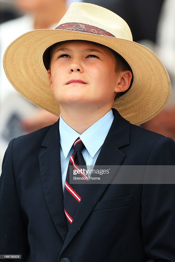 Tom Greig stands in silence during the Tony Greig memorial service at Sydney Cricket Ground on January 20, 2013 in Sydney, Australia.
