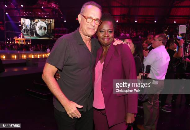 Tom Hanks and atress and Executive Producer of EIF Presents XQ Super School Live Viola Davis attend the XQ Super School Live presented by EIF at...