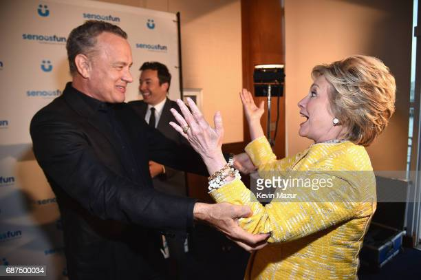 Tom Hanks and Former United States Secretary of State Hillary Clinton attend the SeriousFun Children's Network Gala at Pier 60 on May 23 2017 in New...