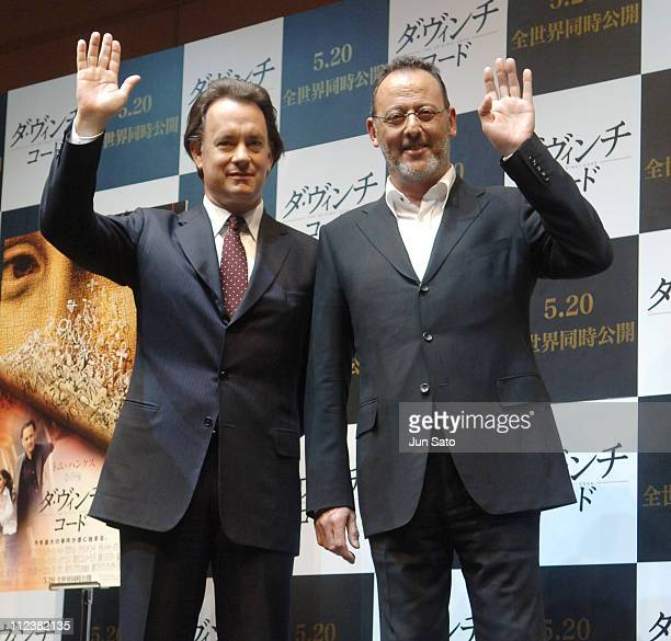 Tom Hanks and Jean Reno during 'The Da Vinci Code' Tokyo Press Conference at Park Tower Hall in Tokyo Japan