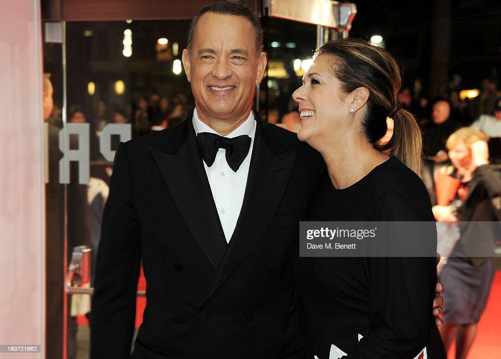 <a gi-track='captionPersonalityLinkClicked' href=/galleries/search?phrase=Tom+Hanks&family=editorial&specificpeople=201790 ng-click='$event.stopPropagation()'>Tom Hanks</a> (L) and <a gi-track='captionPersonalityLinkClicked' href=/galleries/search?phrase=Rita+Wilson&family=editorial&specificpeople=202642 ng-click='$event.stopPropagation()'>Rita Wilson</a> attend the European Premiere of 'Captain Phillips' on the opening night of the 57th BFI London Film Festival at Odeon Leicester Square on October 9, 2013 in London, England.