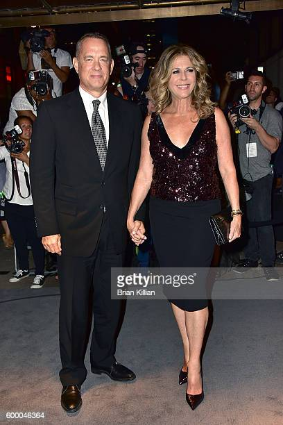 Tom Hanks and Rita Wilson attend the Tom Ford September 2016 New York Fashion Week show on September 7 2016 in New York City
