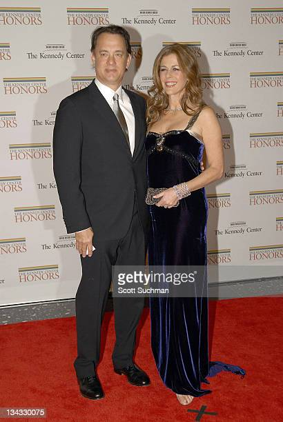 Tom Hanks and Rita Wilson during 2006 Kennedy Center Honors at United States State Department in Washington DC United States