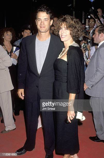 Tom Hanks and Rita Wilson during 'A League of Their Own' Screening to Benefit New York Women in Film at Ziegfeld Theater in New York City New York...