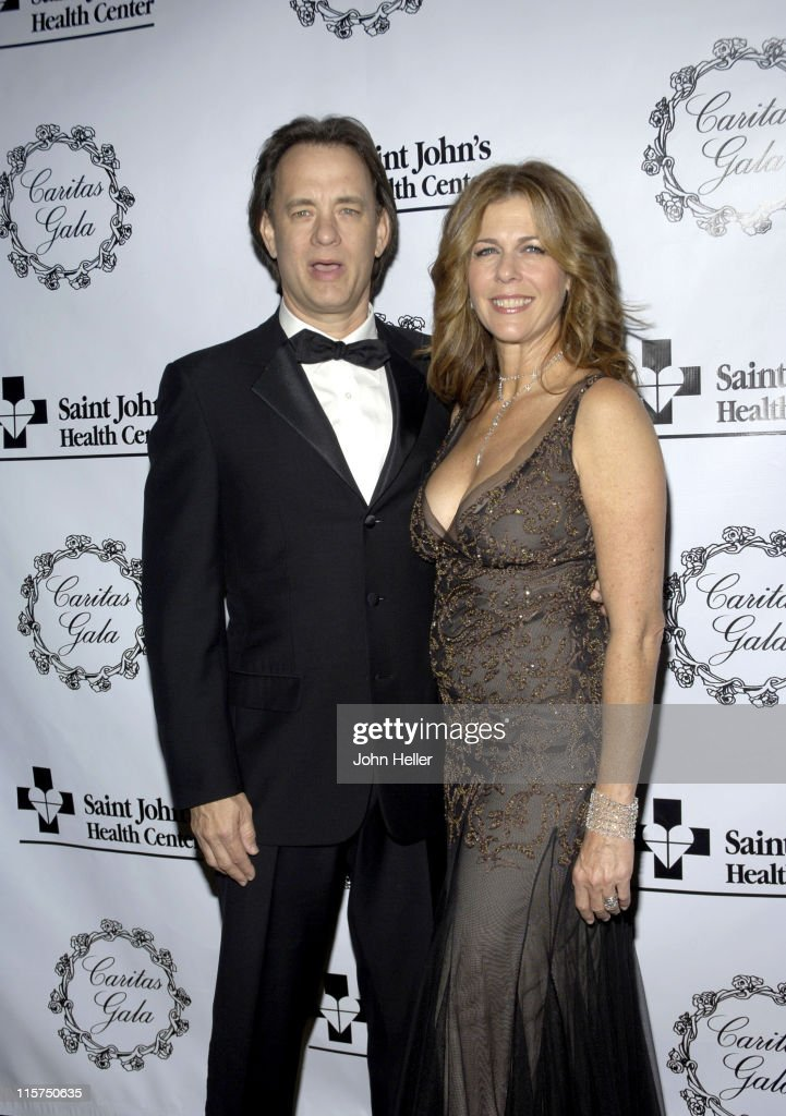 Tom Hanks and Rita Wilson during Saint John's Health Center Caritas Gala in Los Angeles California United States