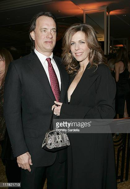 Tom Hanks and Rita Wilson during Saks Fifth Avenue's Unforgettable Evening Benefitting EIF's Women's Cancer Research Fund at Regent Beverly Wilshire...