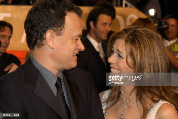 Tom Hanks and Rita Wilson during The 29th Annual People's Choice Awards at Pasadena Civic Auditorium in Pasadena CA United States
