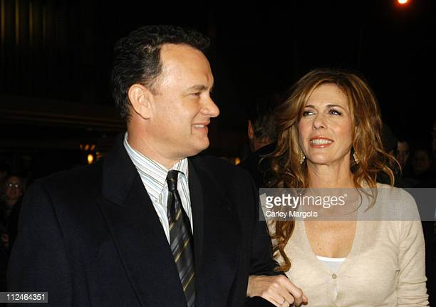 Tom Hanks and Rita Wilson during 'The Polar Express' New York Premiere at Ziegfeld Theater in New York City New York United States