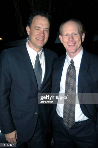 Tom Hanks and Ron Howard during Shoah Foundation Exclusive Event at Amblin Entertainment on Universal Studios in Universal City California United...