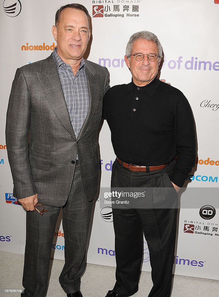 Tom Hanks and Ron Meyer arrives at the March Of Dimes' Celebration Of Babies at Beverly Hills Hotel on December 7, 2012 in Beverly Hills, California.