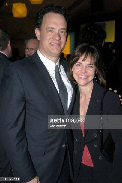 Tom Hanks and Sally Field during Shoah Foundation Exclusive Event at Amblin Entertainment on Universal Studios in Universal City California United...