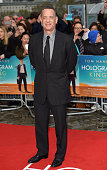 Tom Hanks arrives for the UK premiere of 'A Hologram For The King' at BFI Southbank on April 25 2016 in London England
