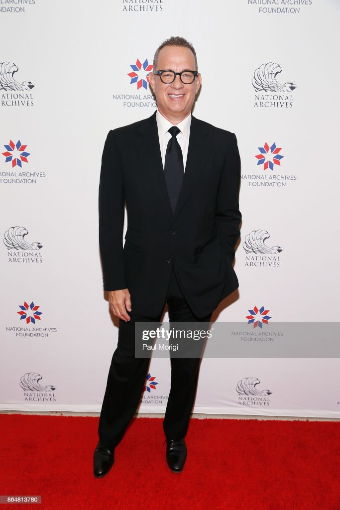 Tom Hanks at National Archives Foundation Gala on October 21, 2017 in Washington, DC.