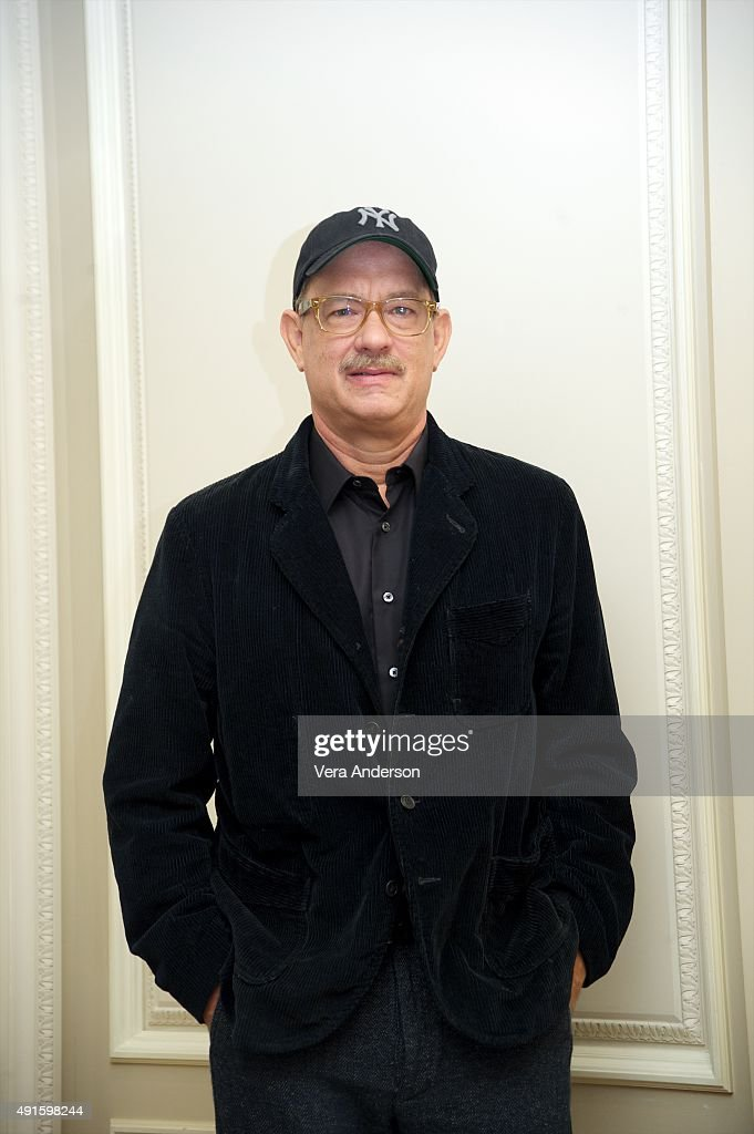 Tom Hanks at the 'Bridge of Spies' Press Conference at the Mandarin Oriental Hotel on October 4, 2015 in New York City.