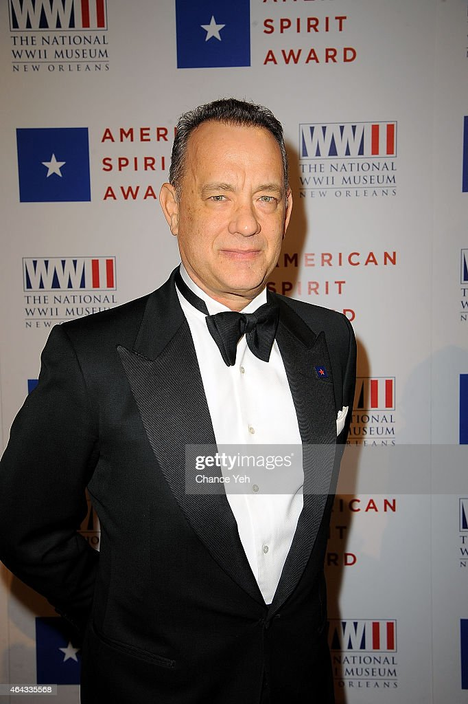 <a gi-track='captionPersonalityLinkClicked' href=/galleries/search?phrase=Tom+Hanks&family=editorial&specificpeople=201790 ng-click='$event.stopPropagation()'>Tom Hanks</a> attends 2015 National WWII Museum's American Spirit Award Gala at Cipriani Wall Street on February 24, 2015 in New York City.