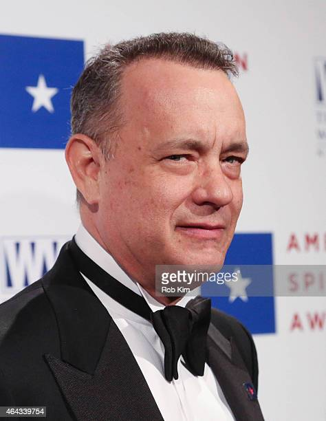 Tom Hanks attends 2015 National WWII Museum's American Spirit Award Gala at Cipriani Wall Street on February 24 2015 in New York City