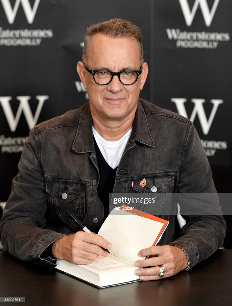 Tom Hanks attends a book signing for his new book 'Uncommon Type' at Waterstones Piccadilly on November 2, 2017 in London, England.