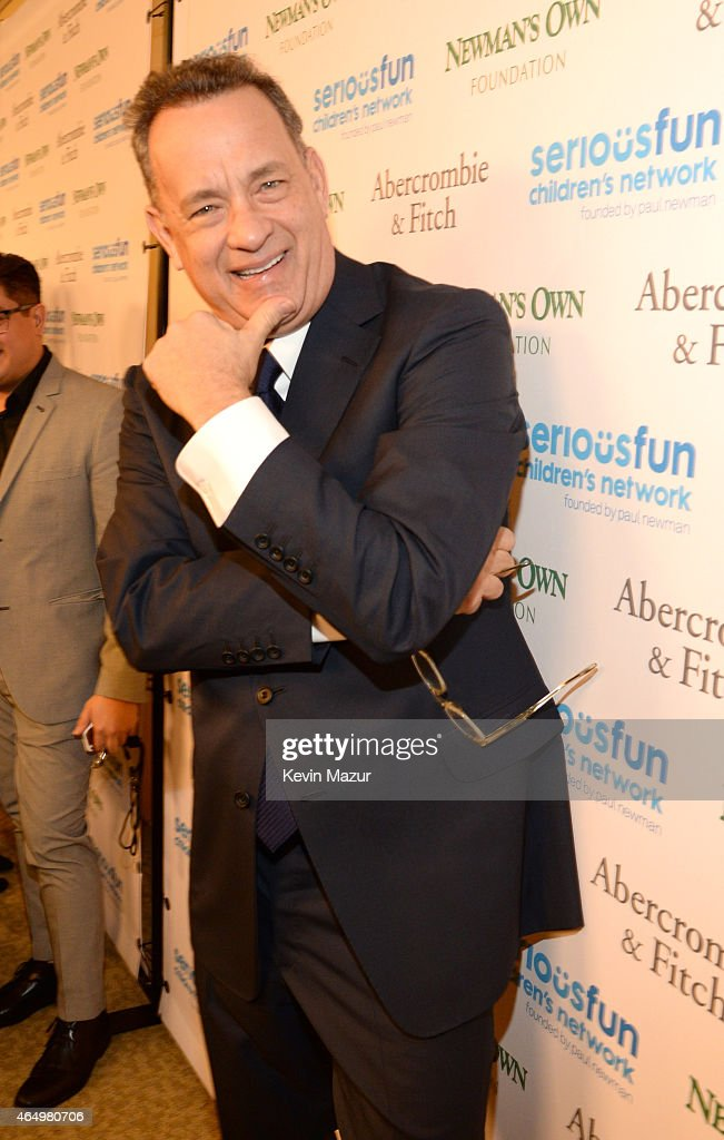 <a gi-track='captionPersonalityLinkClicked' href=/galleries/search?phrase=Tom+Hanks&family=editorial&specificpeople=201790 ng-click='$event.stopPropagation()'>Tom Hanks</a> attends SeriousFun Children's Network 2015 New York Gala: An Evening Of SeriousFun Celebrating the Legacy Of Paul Newman on March 2, 2015 in New York City.