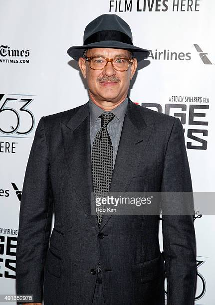 Tom Hanks attends the 53rd New York Film Festival 'Bridge Of Spies' Arrivals at Alice Tully Hall Lincoln Center on October 4 2015 in New York City