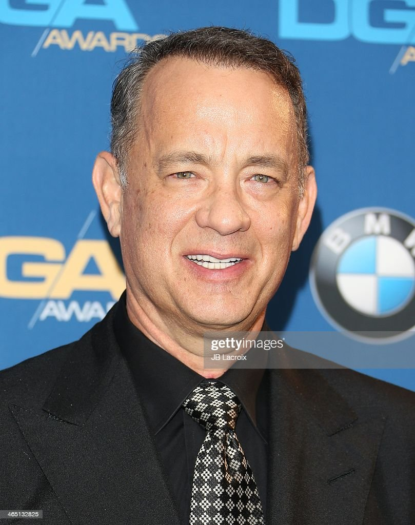 <a gi-track='captionPersonalityLinkClicked' href=/galleries/search?phrase=Tom+Hanks&family=editorial&specificpeople=201790 ng-click='$event.stopPropagation()'>Tom Hanks</a> attends the 66th Annual Directors Guild Of America Awards - Press Room held at the Hyatt Regency Century Plaza on January 25, 2014 in Century City, California.