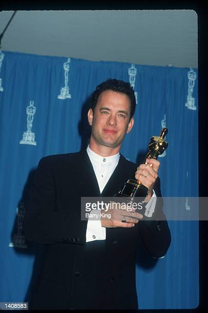 Tom Hanks attends the 67th Annual Academy Awards ceremony March 27 1995 in Los Angeles CA This year''s ceremony recognizes excellence in a number of...