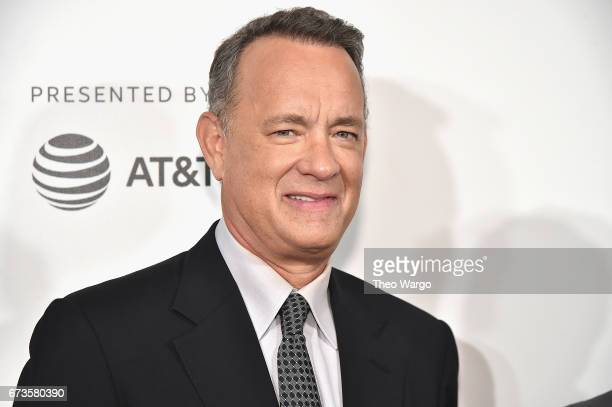 Tom Hanks attends 'The Circle' Premiere at the BMCC Tribeca PAC on April 26 2017 in New York City