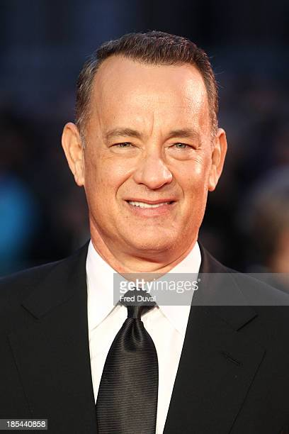 Tom Hanks attends the Closing Night Gala European Premiere of 'Saving Mr Banks' during the 57th BFI London Film Festival at Odeon Leicester Square on...