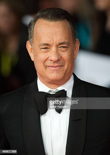 Tom Hanks attends the EE British Academy Film Awards 2014 at The Royal Opera House on February 16 2014 in London England
