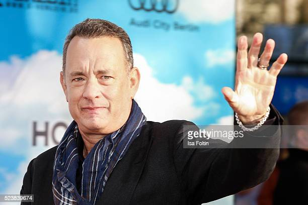 Tom Hanks attends the German premiere for the film 'A Hologram for the King' at Zoopalast on April 24 2016 in Berlin Germany