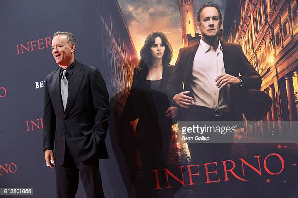 Tom Hanks attends the German premiere of the film 'INFERNO' at Sony Centre on October 10 2016 in Berlin Germany