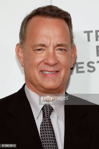 Tom Hanks attends the premiere of 'The Circle' during the 2017 Tribeca Film Festival at Borough of Manhattan Community College on April 26 2017 in...