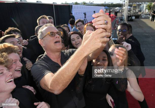 Tom Hanks attends XQ Super School Live presented by EIF at Barker Hangar on September 8 2017 in Santa California