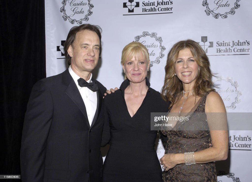 Tom Hanks Bonnie Hunt and Rita Wilson during Saint John's Health Center Caritas Gala in Los Angeles California United States
