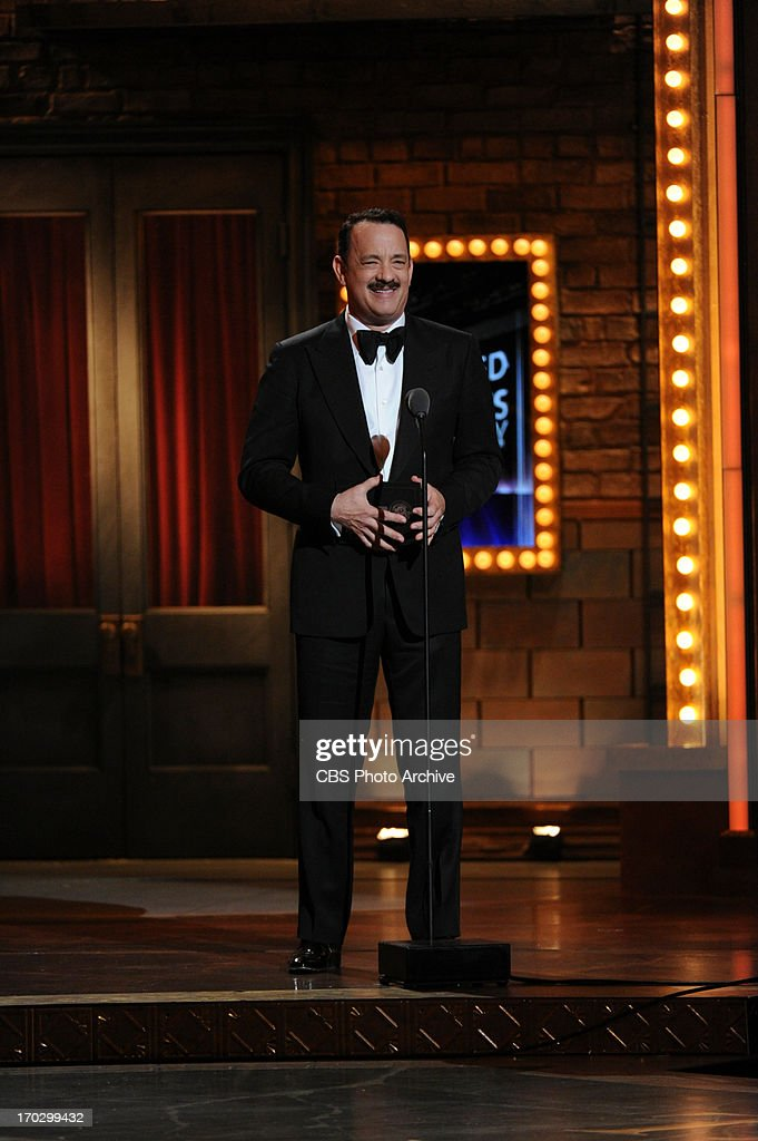 Tom Hanks during THE 67TH ANNUAL TONY AWARDS broadcast live from Radio City Music Hall in New York City, Sunday, June 9 (8:00-11:00 PM, live ET/delayed PT) on the CBS Television Network.