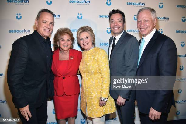 Tom Hanks Liz Robbins Former United States Secretary of State Hillary Clinton Jimmy Fallon and Don Goel attend the SeriousFun Children's Network Gala...