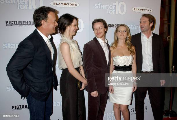 Tom Hanks Rebecca Hall James McAvoy Alice Eve and Tom Vaughan