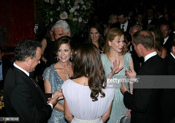 Tom Hanks Rita Wilson Catherine Duchess of Cambridge Nicole Kidman and Prince William Duke of Cambridge attend the BAFTA 'Brits to Watch' event held...