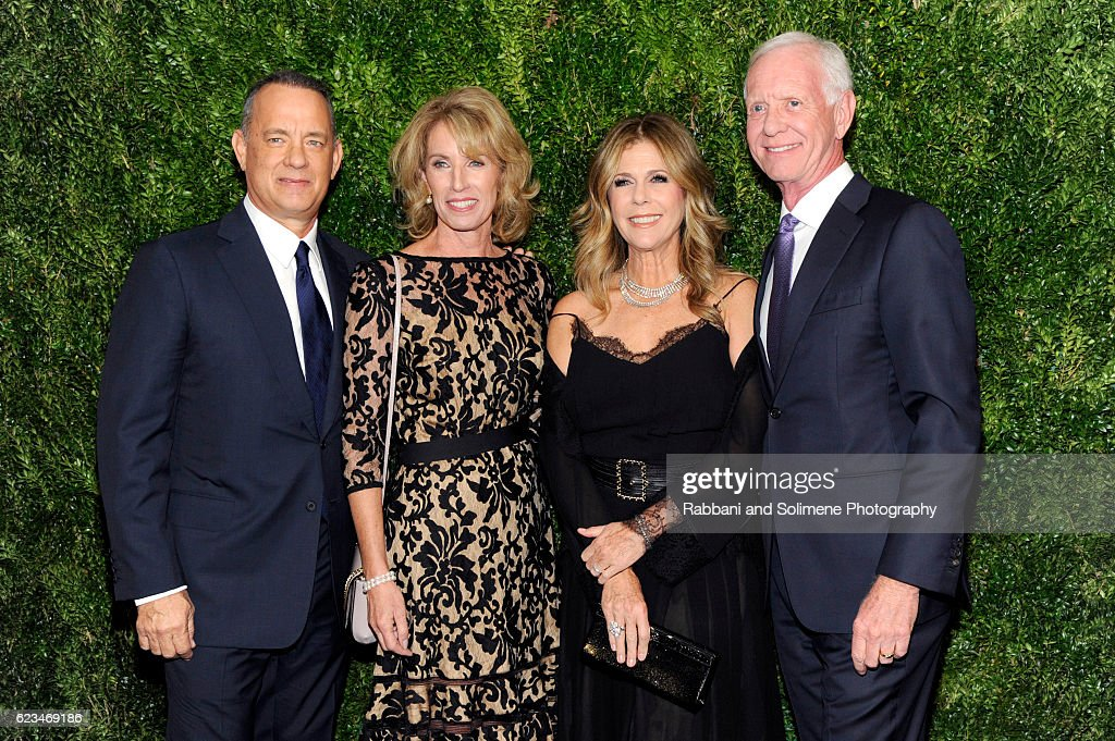 Tom Hanks, Rita Wilson, Lorrie Sullenberger and Chesley Sullenberger attend the 2016 Museum Of Modern Art Film Benefit - A Tribute To Tom Hanks at Museum of Modern Art on November 15, 2016 in New York City.
