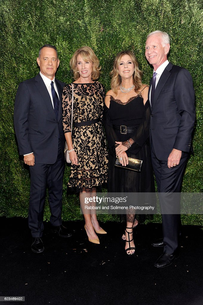 Tom Hanks, Rita Wilson, Lorrie Sullenberger and Chesley Sullenberger attend the 2016 Museum Of Modern Art Film Benefit presented by Chanel - A Tribute To Tom Hanks at Museum of Modern Art on November 15, 2016 in New York City.