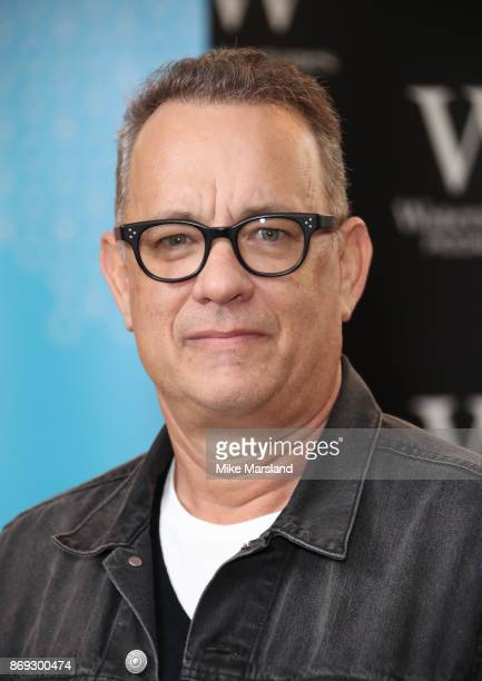 Tom Hanks signs copies of his new book 'Uncommon Type' at Waterstones Piccadilly on November 2 2017 in London England