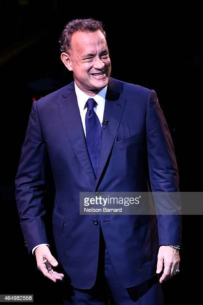 Tom Hanks speaks onstage at SeriousFun Children's Network 2015 New York Gala An Evening of SeriousFun Celebrating the Legacy of Paul Newman at Avery...