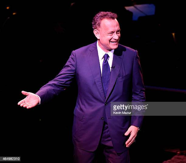 Tom Hanks speaks onstage during SeriousFun Children's Network 2015 New York Gala An Evening Of SeriousFun Celebrating the Legacy Of Paul Newman at...