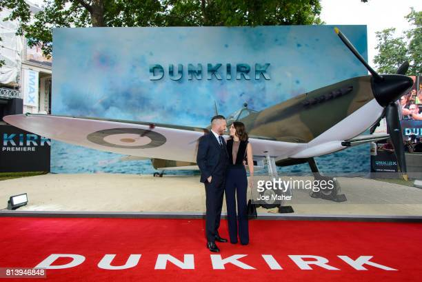 Tom Hardy and Charlotte Riley arriving at the 'Dunkirk' World Premiere at Odeon Leicester Square on July 13 2017 in London England