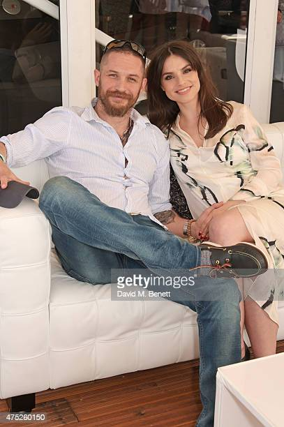 Tom Hardy and Charlotte Riley attend day one of the Audi Polo Challenge at Coworth Park on May 30 2015 in London England