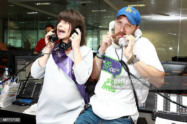 Tom Hardy and Charlotte Riley attend the annual BGC Global Chariry Day at BGC Partners on September 11 2015 in London England