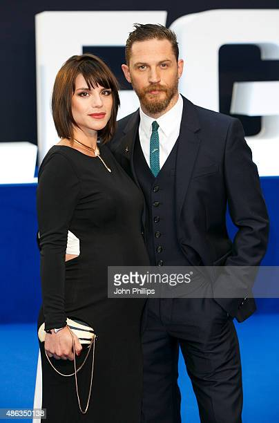 Tom Hardy and Charlotte Riley attend the UK Premiere of 'Legend' at Odeon Leicester Square on September 3 2015 in London England